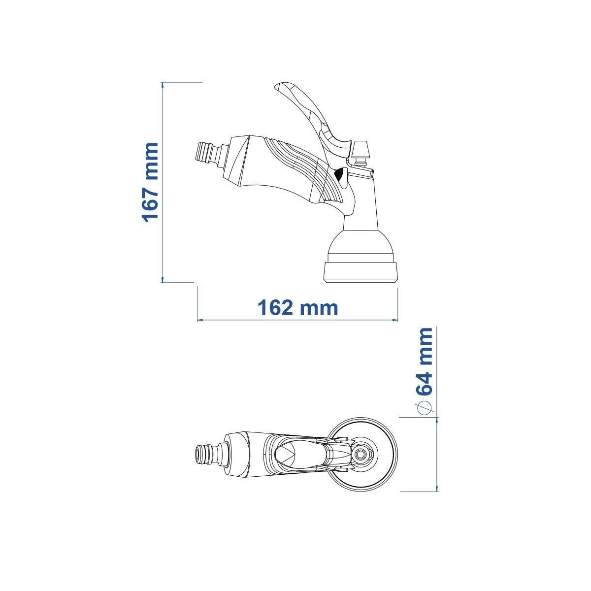 Esguicho Hidropistola Plástica Tramontina - Casa Sul Materiais e Acabamento