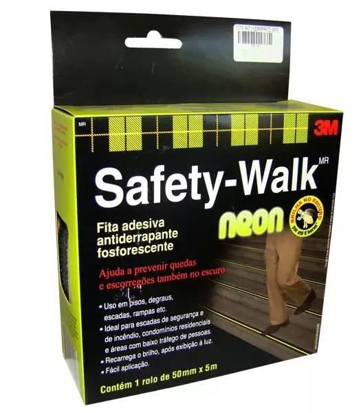 Fita Antiderrapante Autoadesiva 3M Neon Safetywalk 5 Metros - Casa Sul Materiais e Acabamento