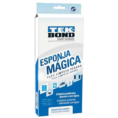 Esponja Mágica Tekbond com 3 unidades - Casa Sul Materiais e Acabamento