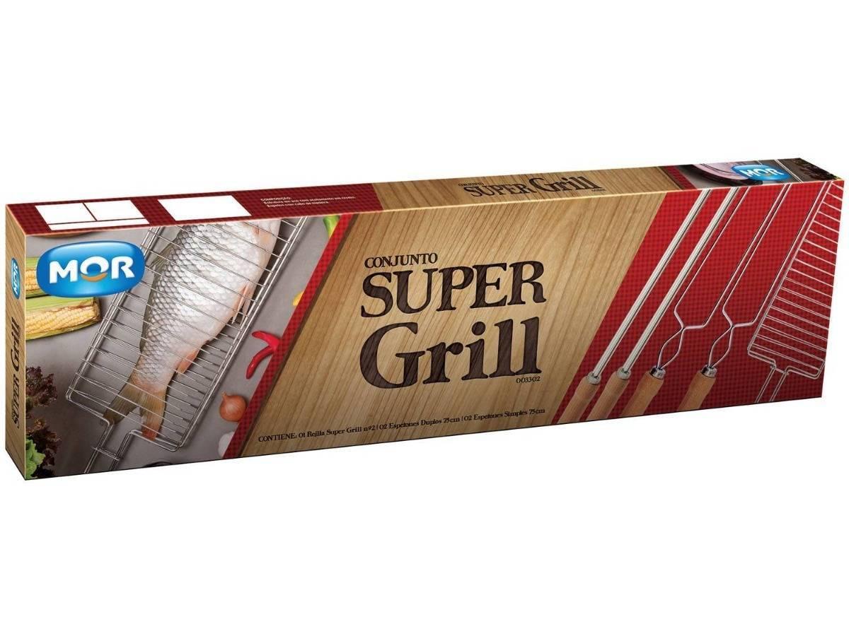 Conjunto Super Grill para Churrasco - Casa Sul Materiais e Acabamento