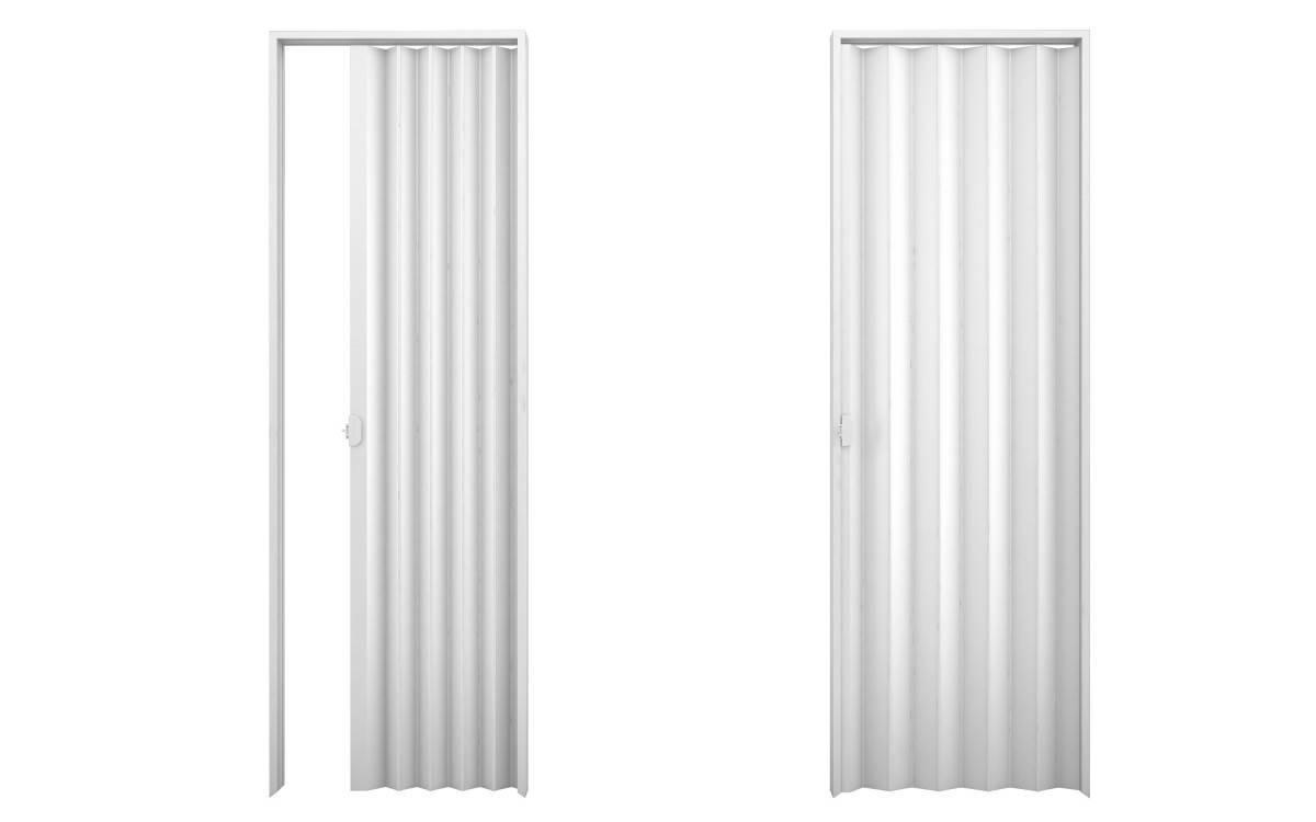 Porta Sanfonada De Pvc plasbil 2,10 x 100.cm Branco - Casa Sul Materiais e Acabamento