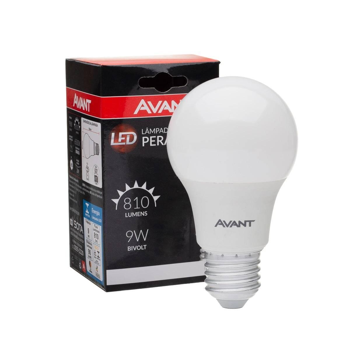 Lâmpada Led Bulbo A60 Avant 9.W 6,500k Luz Branca - Casa Sul Materiais e Acabamento