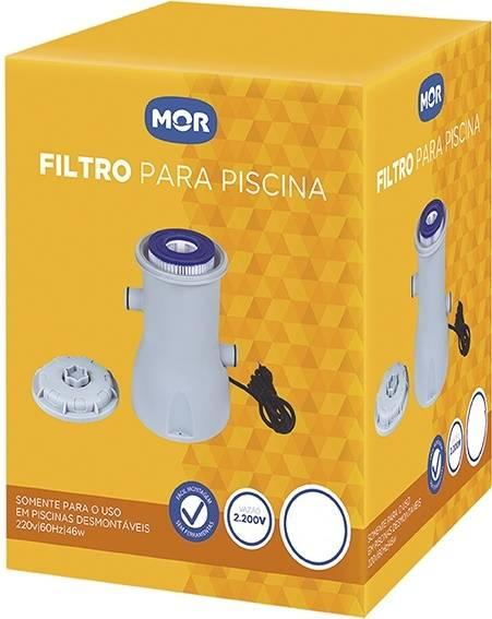Filtro para Piscina Mor Vazão 3.600.L/Hora 110.V - Casa Sul Materiais e Acabamento