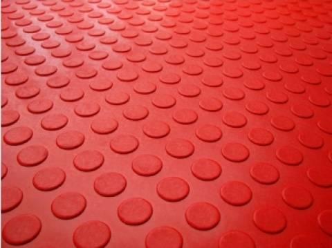 Piso Laminado Moeda á metro 130.cm Vermelho - Casa Sul Materiais e Acabamento