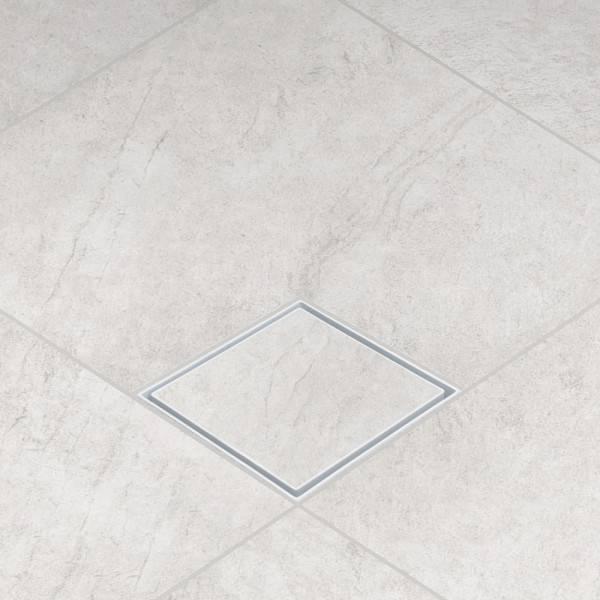 Ralo Oculto Astra ABS 15x15 Branco - Casa Sul Materiais e Acabamento