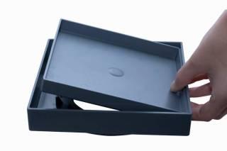 Ralo Oculto Astra ABS 15x15 Cinza