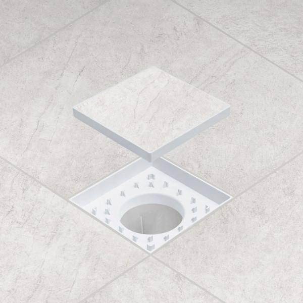 Ralo Oculto Astra ABS 15x15 Cinza - Casa Sul Materiais e Acabamento