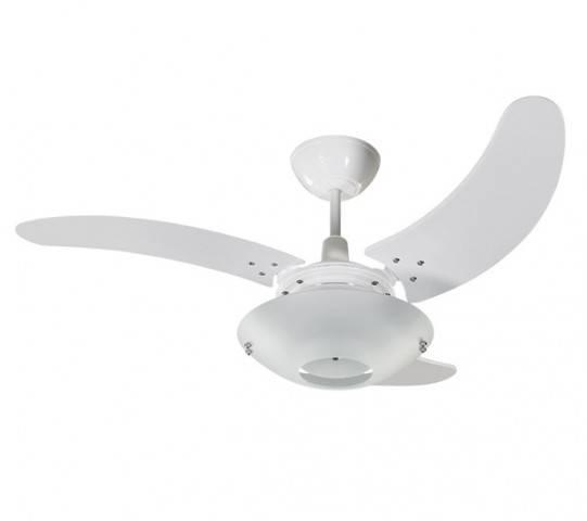 Ventilador Teto Clean Tron Branco 3 Pás Transparentes 127.v - Casa Sul Materiais e Acabamento