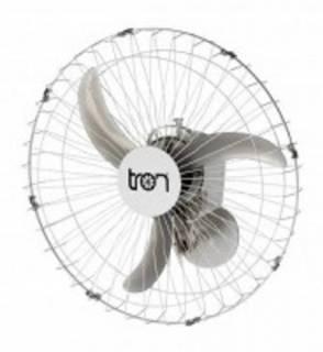 Ventilador Parede Tron Grade Metal 60.cm Branco Bivolt