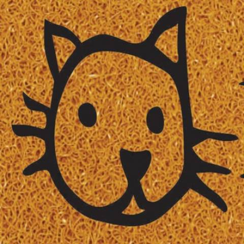 Tapete Vinil Kapazi 70 x 30.cm Miau  - Casa Sul Materiais e Acabamento