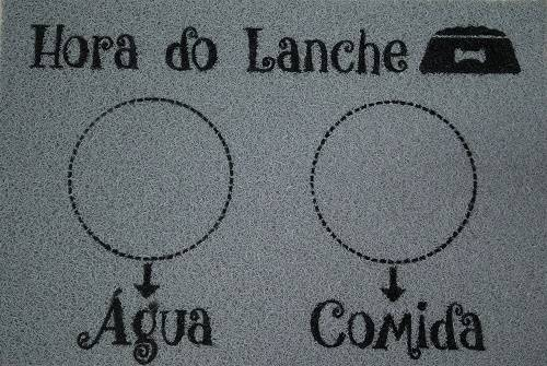 Tapete Vinil Kapazi 40 x 60.cm Hora do Lanche  - Casa Sul Materiais e Acabamento
