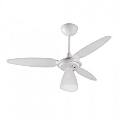 Ventilador Teto Wind Light Premium Branco 3Pás Brancas 127v - Casa Sul Materiais e Acabamento