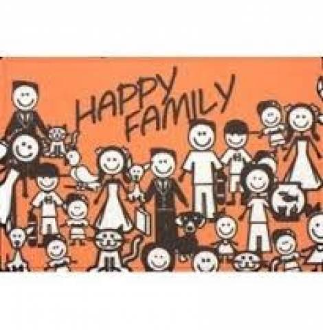 Tapete Vinil Art 40 x 60.cm Happy Family  - Casa Sul Materiais e Acabamento