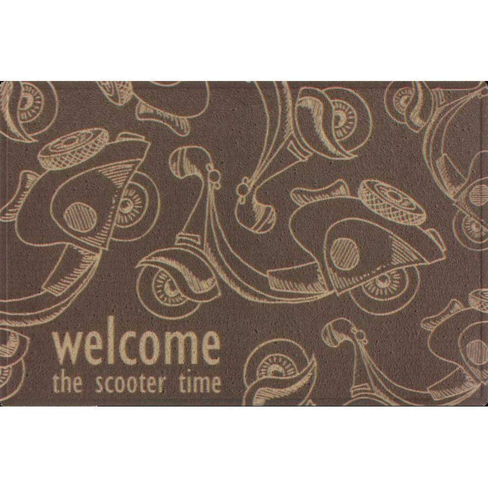 Tapete Vinil Art 40 x 60.cm Scooter Time  - Casa Sul Materiais e Acabamento