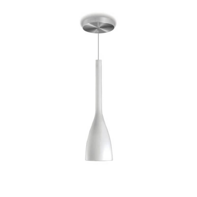 Pendente Tulipa Blumenau Alumínio Escovado Branco - Casa Sul Materiais e Acabamento