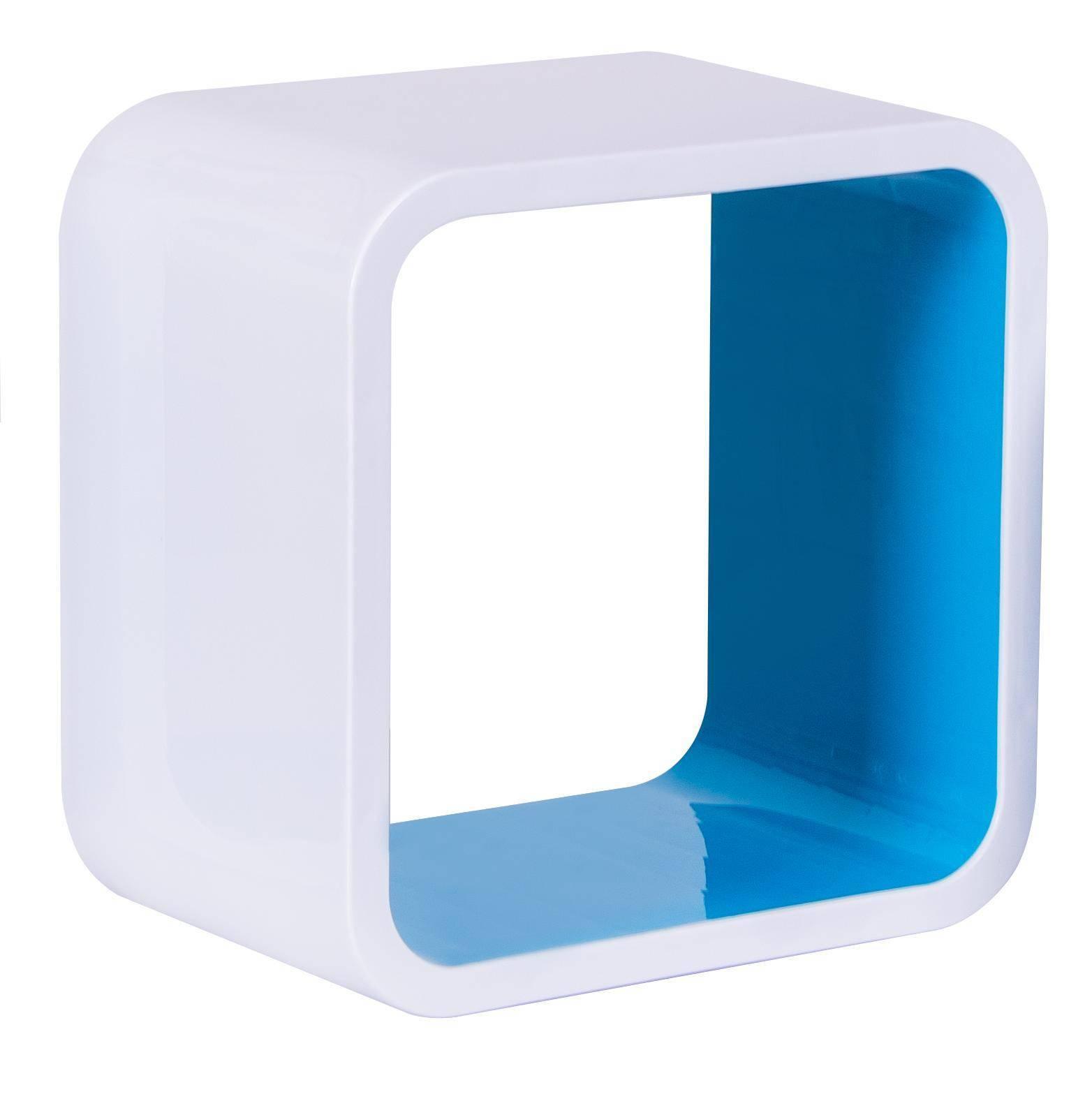 Nicho Quadrado Plástico Astra 31 x 31 x 20.cm Azul - Casa Sul Materiais e Acabamento