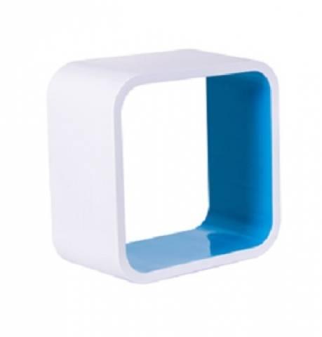 Nicho Quadrado Plástico Astra 36 x 36 x 20.cm Azul - Casa Sul Materiais e Acabamento