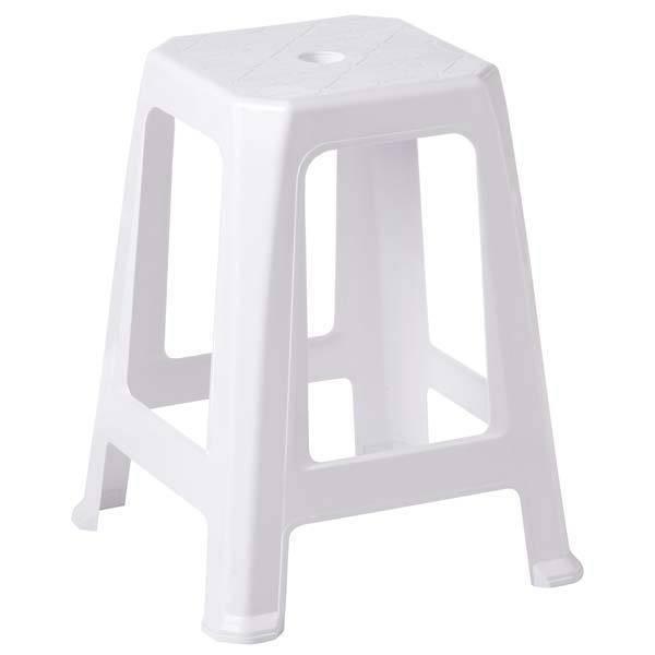 Banqueta Tambouret PVC Dolfin Branco - Casa Sul Materiais e Acabamento