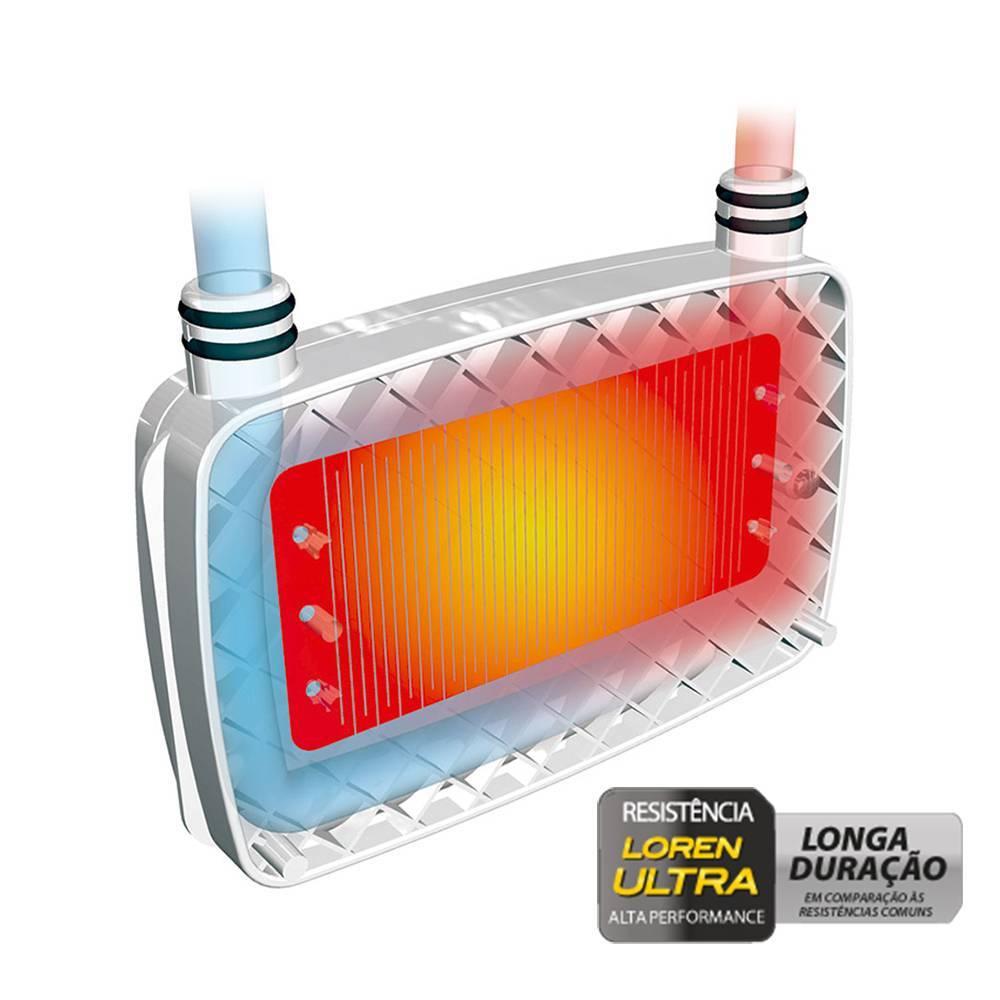 Ducha Acqua Storm Ultra Eletrônica 220v 7800w Branco Cromado - Casa Sul Materiais e Acabamento
