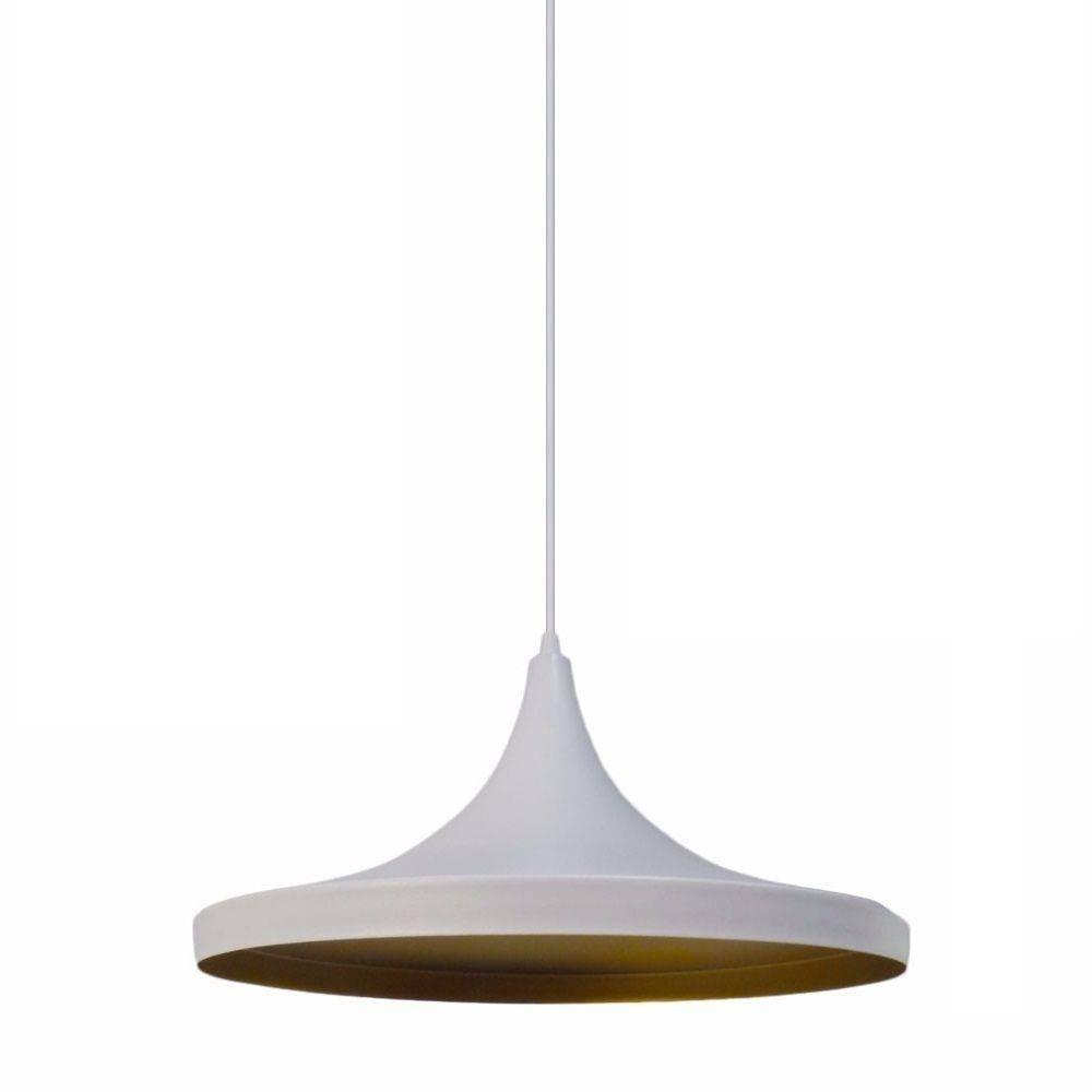 Pendente Blumenau Alumínio Chapéu Chinês 36.cm Branco - Casa Sul Materiais e Acabamento