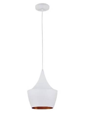 Pendente Blumenau Alumínio Cone Largo 24.cm Branco - Casa Sul Materiais e Acabamento