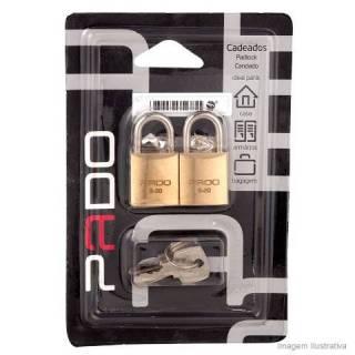 Cadeado Pado com 2 unidades e mesma chave 20.mm