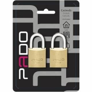 Cadeado Pado com 2 unidades e mesma chave 30.mm