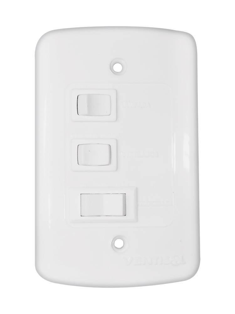 Ventilador Teto Wind Light Premium Preto 3 Pás Tabaco 127.V - Casa Sul Materiais e Acabamento