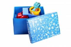 Caixa Organizadora Atco Azul média