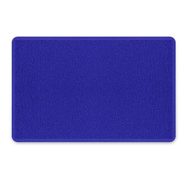 Tapete Capacho Vinil 60 x 90.cm Azul Royal - Casa Sul Materiais e Acabamento