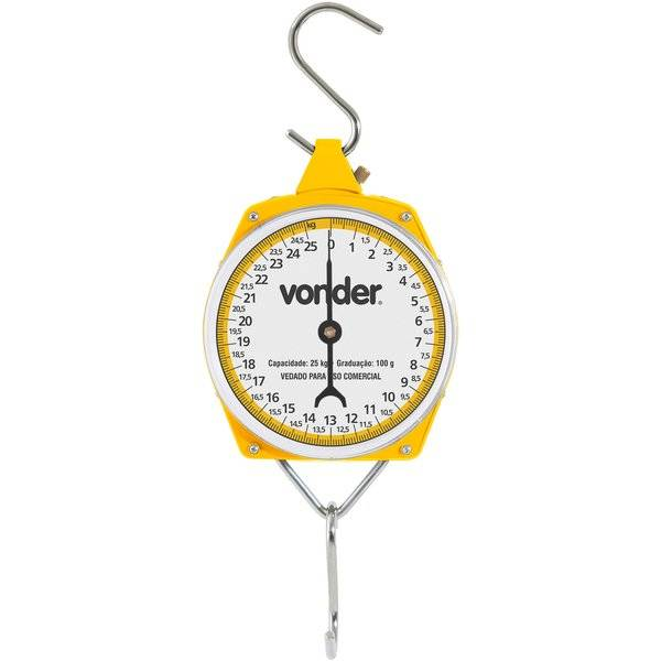 Balança Suspensa Tipo Relógio Vonder 25.kg - Casa Sul Materiais e Acabamento