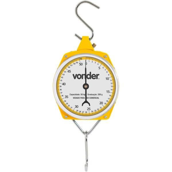 Balança Suspensa Tipo Relógio Vonder 50.kg - Casa Sul Materiais e Acabamento