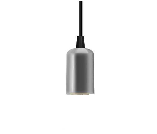 Pendente Slim Vertical Canopla Alumínio Prata - Casa Sul Materiais e Acabamento