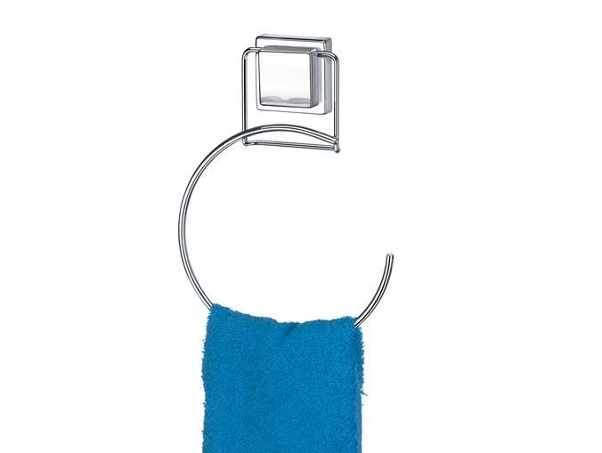 Porta Toalha Redondo com Ventosa por Sucção Arthi 1309 - Casa Sul Materiais e Acabamento