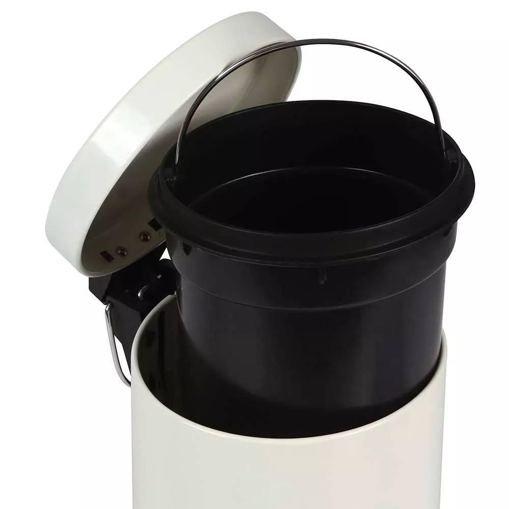 Conjunto Lixeira Inox Àgata Mor 3.L Bege - Casa Sul Materiais e Acabamento