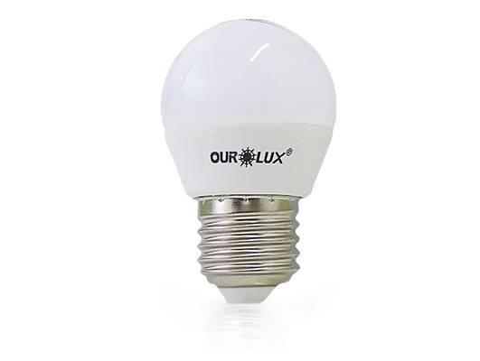 Lâmpada Bolinha Superled Ourolux 4.w 6500K Luz Branca - Casa Sul Materiais e Acabamento