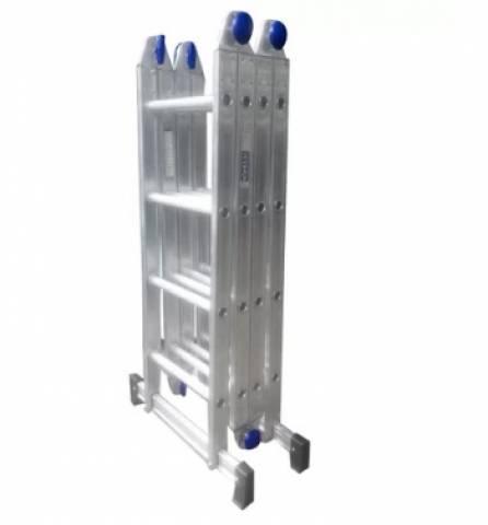 Escada Articulada Alumínio 4x4 com 16 Degraus - Casa Sul Materiais e Acabamento