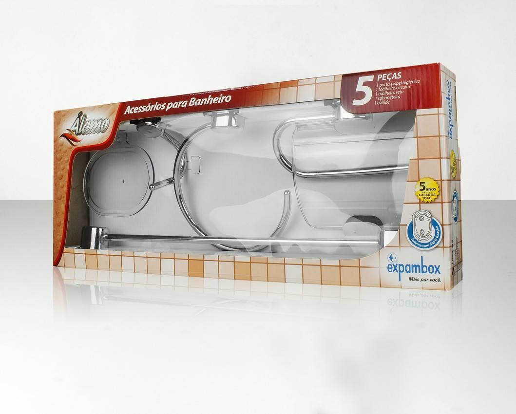 kit Acessórios para Banheiro Expambox Álamo - Casa Sul Materiais e Acabamento
