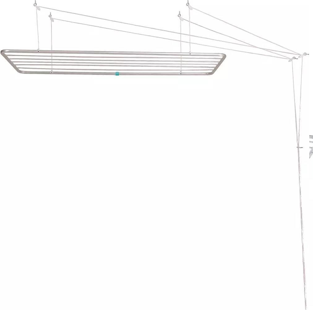 Varal de Teto Alumínio Mor 56 x 140.cm - Casa Sul Materiais e Acabamento