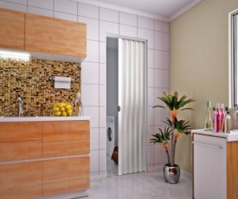 Porta Sanfonada De Pvc plasbil 2,10 x 70.cm Branco - Casa Sul Materiais e Acabamento