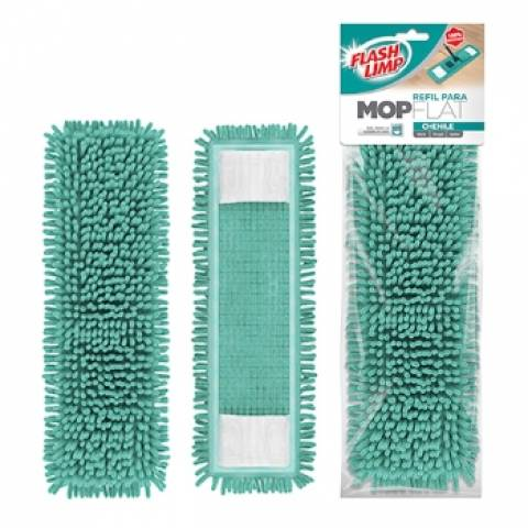 Refil para Mop Mopflat Chenile Flashlimp - Casa Sul Materiais e Acabamento