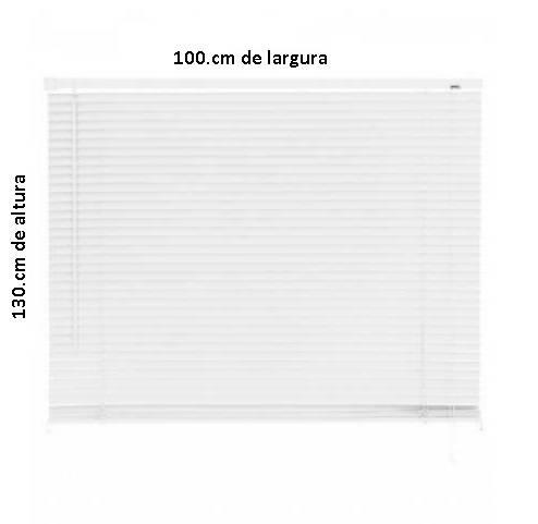 Persiana PVC Primalu 25.mm 100 x 130.cm Branca - Casa Sul Materiais e Acabamento