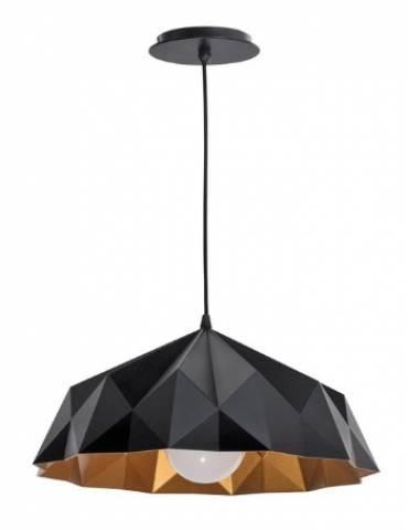 Pendente Baxton Origami 40.cm Preto-Cobre - Casa Sul Materiais e Acabamento