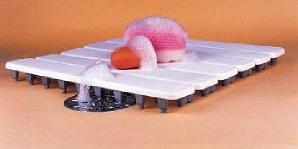 Estrado para Banheiro Cobalto Plastic Marfim - Casa Sul Materiais e Acabamento