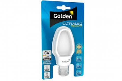 Lâmpada Ultraled Vela Fit Golden 6.W 6500k luz Branca - Casa Sul Materiais e Acabamento