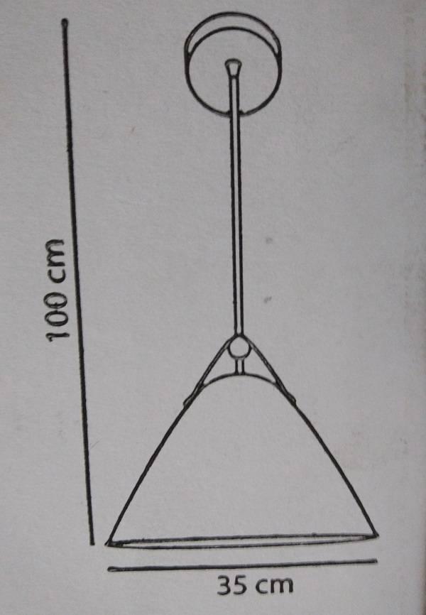Pendente Startec 35.cm RPX Couro branco - Casa Sul Materiais e Acabamento