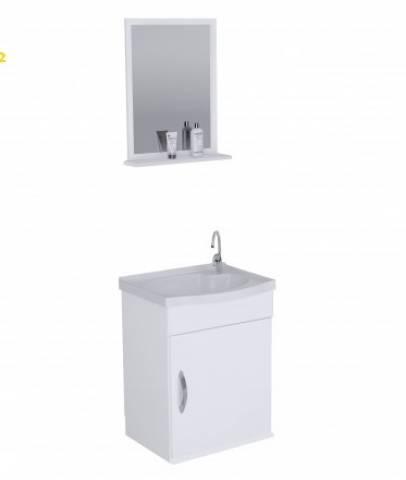 Gabinete Banheiro Rorato Siena 1 Porta 39.cm Branco - Casa Sul Materiais e Acabamento