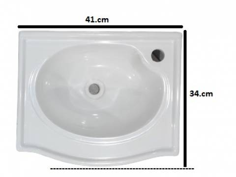 Gabinete Banheiro Rorato Siena 1 Porta 39.cm Preto - Casa Sul Materiais e Acabamento