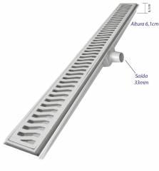 Ralo linear Costa Navarro Alumínio  7x70.cm Cromado