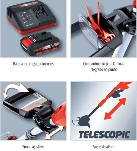 Aparador de Grama a Bateria Einhell GE-TC 18 Li Kit 18.v - Casa Sul Materiais e Acabamento